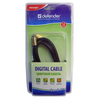 Defender Кабель HDMI07-06PRO (ver.1.4) HDMI (M) - mini HDMI (M) 1.8 метра