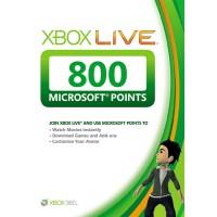 Карта оплаты Xbox Live на 800 очков Microsoft Points