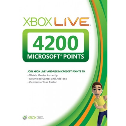 Карта оплаты Xbox Live на 4200 очков Microsoft Points