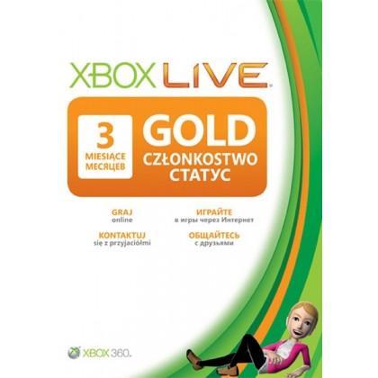 Карта подписки Xbox Live Gold на 3 месяца
