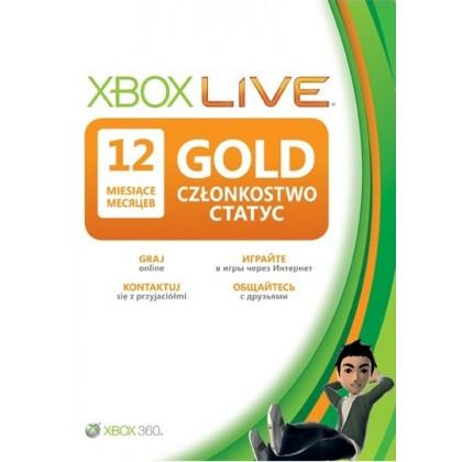 Карта подписки Xbox Live Gold на 12 месяцев