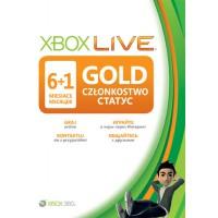 Карта подписки Xbox Live Gold на 6+1 месяцев