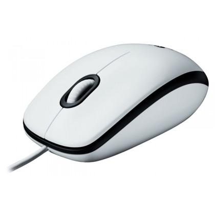 Logitech Мышь оптическая M100 белая, USB
