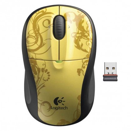 Logitech Мышь M305 Wireless Mouse Gold Tendrils USB
