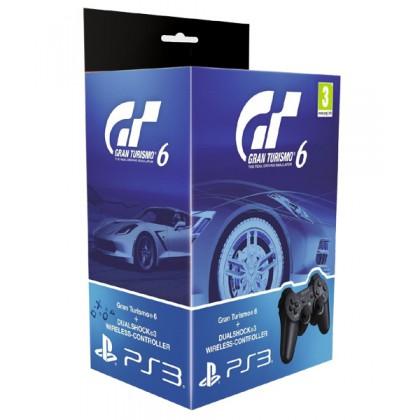 Комплект игра Gran Turismo 6 (PS3) Русская версия + геймпад Dualshock 3