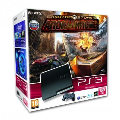 Игровая приставка Sony PS3 Slim (160 Gb) + MotorStorm Апокалипсис