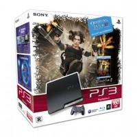 Игровая приставка Sony PS3 Slim (160 Gb) + Обитель зла 4 3D