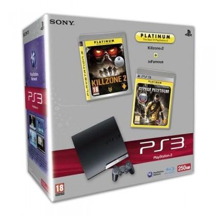 Игровая приставка Sony PS3 Slim (250 Gb) + Killzone 2 + Дурная Репутация