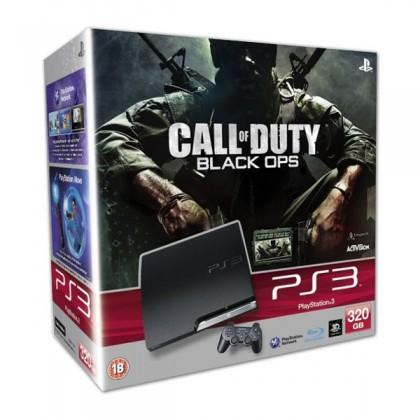 Игровая приставка Sony PS3 Slim (320 Gb) + Call of Duty Black Ops