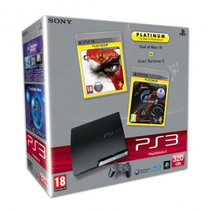 Игровая приставка Sony PS3 Slim (320 Gb) + God of War 3 + Gran Turismo 5