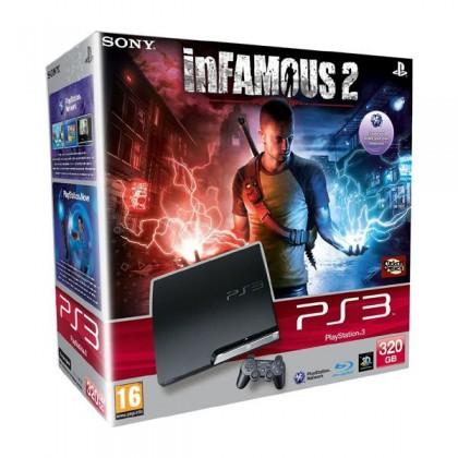 Игровая приставка Sony PS3 Slim (320 Gb) + Infamous 2