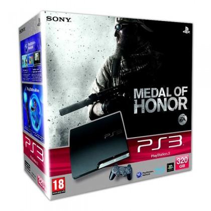 Игровая приставка Sony PS3 Slim (320 Gb) + Medal of Honor