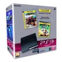 Игровая приставка Sony PS3 Slim (320 Gb) + MotorStorm + Ratchet