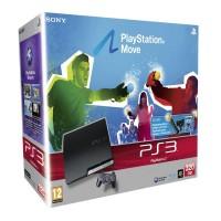 Игровая приставка Sony PS3 Slim (320 Gb) + PS Move Starter Pack