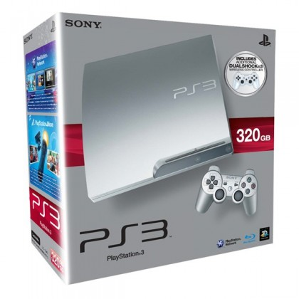 Игровая приставка Sony PS3 Slim (320 Gb) Satin Silver + второй джойстик