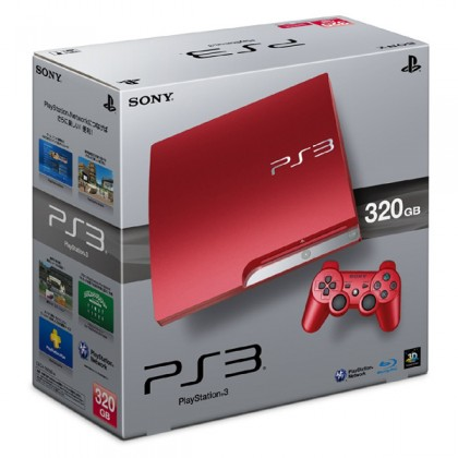 Игровая приставка Sony PS3 Slim (320 Gb) Scarlet Red + второй джойстик