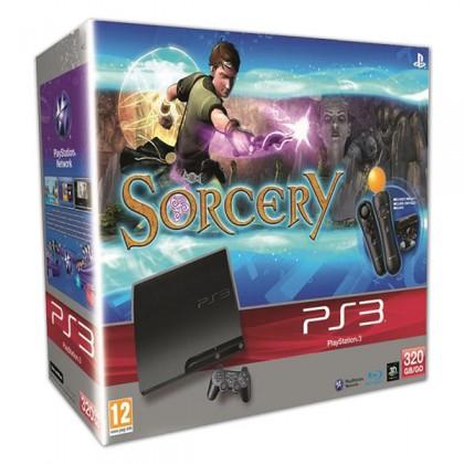 Игровая приставка Sony PS3 Slim (320 Gb) + Чародей + PS Move Starter Pack