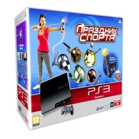 Игровая приставка Sony PS3 Slim (320 Gb) + Праздник Спорта +...