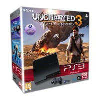 Игровая приставка Sony PS3 Slim (320 Gb) + Uncharted 3