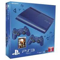 Игровая приставка Sony PS3 Super Slim (12 Gb) Blue + Одни..