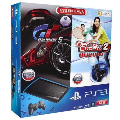 Игровая приставка Sony PS3 Super Slim (12 Gb) + Праздник Спорта 2 + PS Move Starter Pack