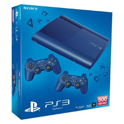 Игровая приставка Sony PS3 Super Slim (500 Gb) Blue + второй джойстик