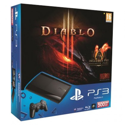 Игровая приставка Sony PS3 Super Slim (500 Gb) + Diablo 3