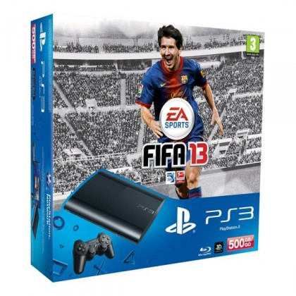 Игровая приставка Sony PS3 Super Slim (500 Gb) + FIFA 13