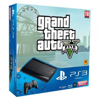 Игровая приставка Sony PS3 Super Slim (500 Gb) + GTA 5