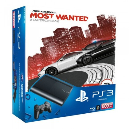 Игровая приставка Sony PS3 Super Slim (500 Gb) + Need for Speed: Most Wanted