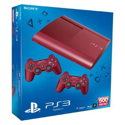 Игровая приставка Sony PS3 Super Slim (500 Gb) Red + второй джойстик