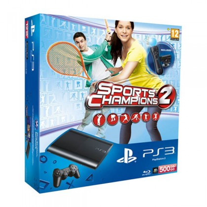 Игровая приставка Sony PS3 Super Slim (500 Gb) + Праздник Спорта 2 + PS Move Starter Pack