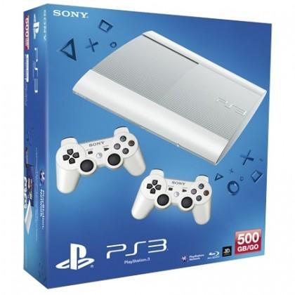 Игровая приставка Sony PS3 Super Slim (500 Gb) White + второй джойстик