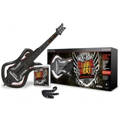Guitar Hero: Warriors of Rock (PS3) Игра + Гитара