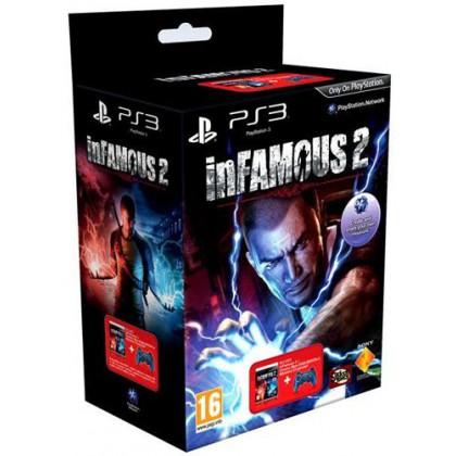 Комплект игра Дурная репутация 2 (PS3) + геймпад Dualshock BLUE