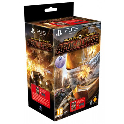 Комплект игра MotorStorm Апокалипсис (PS3) + геймпад Dualshock