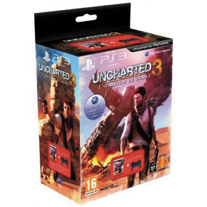 Комплект игра Uncharted 3 (PS3) + геймпад Dualshock