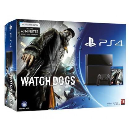 Игровая приставка Sony PS4 (500 Gb) + Watch Dogs
