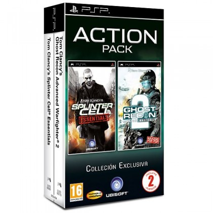Комплект: Splinter Cell + Ghost Recon: Advanced Warfighter 2 (PSP)