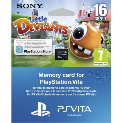 16GB SONY Карта памяти Memory Card (PS Vita) + код на загрузку игры Little Deviants