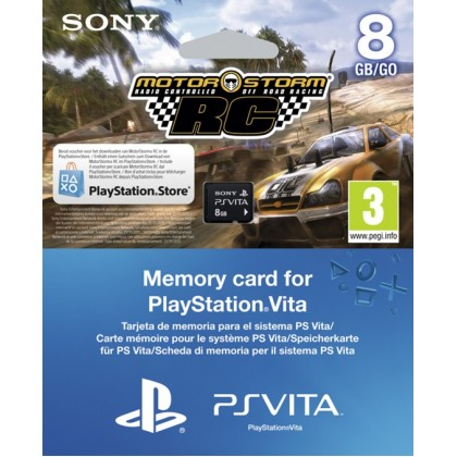 8GB SONY Карта памяти Memory Card (PS Vita) + код на загрузку игры MotorStorm RC