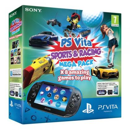 "Игровая приставка Sony PS Vita (3G-WiFi) Mega Pack 8 игр ""Спорт и гонки"" + карта памяти 8GB"