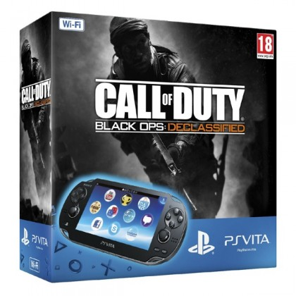 Игровая приставка Sony PS Vita (WiFi) черная + Call of Duty: Black Ops Declassified + карта памяти 4GB
