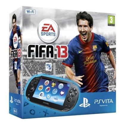 Игровая приставка Sony PS Vita (WiFi) черная + FIFA 13 + карта памяти 4GB