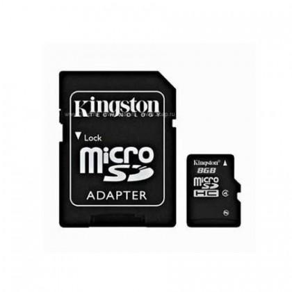 2GB Kingston карта памяти MicroSD class4 + адаптер