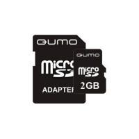 2GB QUMO карта памяти MicroSD class4 + адаптер