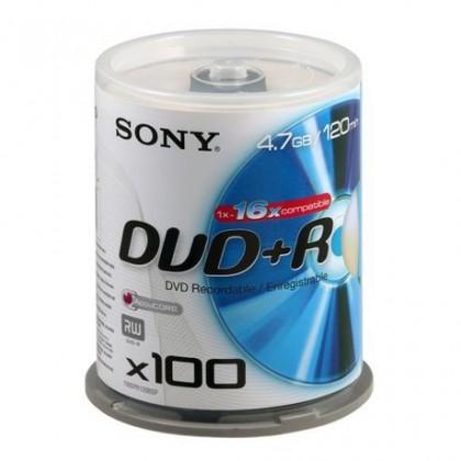 Диск SONY DVD+R 4.7GB 16x CakeBox 100шт