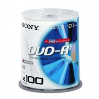 Диск SONY DVD-R 4.7GB 16x CakeBox 100шт