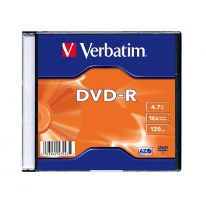 Диск Verbatim DVD-R 4.7GB 16x AZO Slim