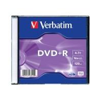 Диск Verbatim DVD+R 4.7GB 16x AZO Slim